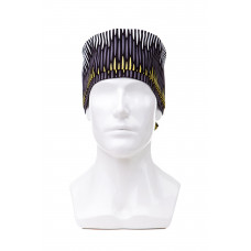 Медицинская шапочка с рисунком для длинных волос Sound wave