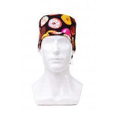 Медицинская шапочка с рисунком для длинных волос Donuts