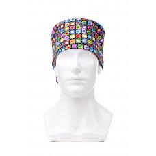 Медицинская шапочка с рисунком для длинных волос Puzzle