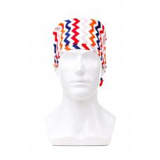 Медицинская шапочка с рисунком для длинных волос Zigzag