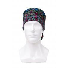 Медицинская шапочка с рисунком для длинных волос Psychedelic