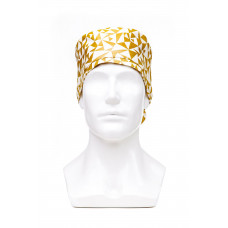 Медицинская шапочка с рисунком для длинных волос Golden triangles