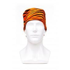 Медицинская шапочка с рисунком для длинных волос Tiger
