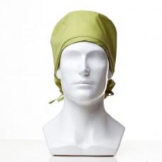 Медицинская шапочка однотонная для длинных волос CLASSIC LONG ТВИЛ 195 грамм/м2 35ХЛ/65ПЭ