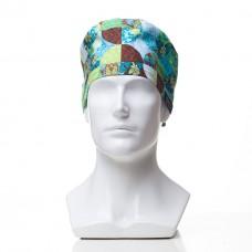 Медицинская шапочка с рисунком для коротких волос Kaleidoscope