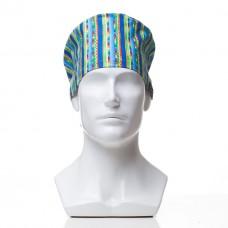 Медицинская шапочка с рисунком для коротких волос Saws