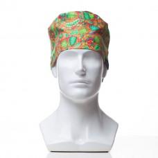 Медицинская шапочка с рисунком для коротких волос Forest