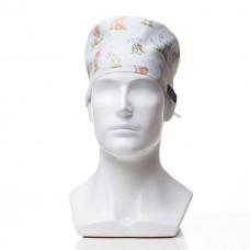 Медицинская шапочка с рисунком для коротких волос Nursery