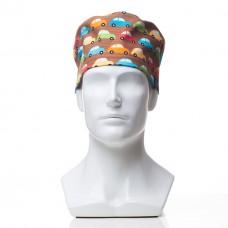 Медицинская шапочка с рисунком для коротких волос Traffic
