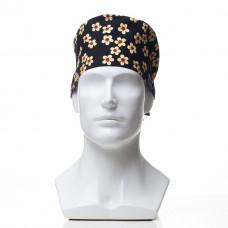 Медицинская шапочка с рисунком для коротких волос Chamomile