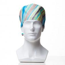 Медицинская шапочка с рисунком для коротких волос Storm