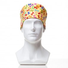 Медицинская шапочка с рисунком для коротких волос Stone