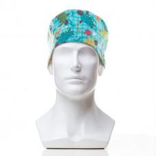 Медицинская шапочка с рисунком для коротких волос Depth