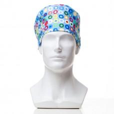 Медицинская шапочка с рисунком для коротких волос Rings