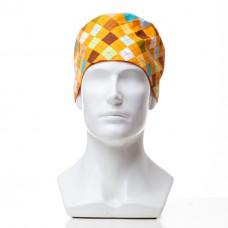 Медицинская шапочка с рисунком для коротких волос White Chock