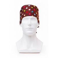 Медицинская шапочка с рисунком для коротких волос Polka dot