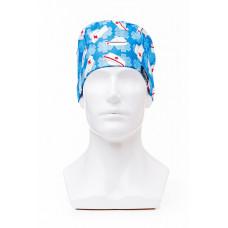 Медицинская шапочка с рисунком для коротких волос Medical cap