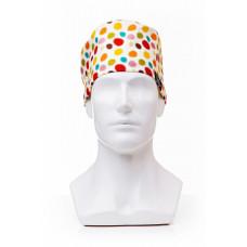 Медицинская шапочка с рисунком для коротких волос Funny patches