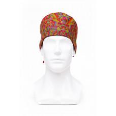 Медицинская шапочка с рисунком для коротких волос Indian Lotus