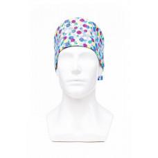 Медицинская шапочка с рисунком для коротких волос Flake