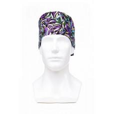 Медицинская шапочка с рисунком для коротких волос Chrysanthemums