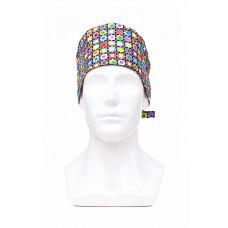 Медицинская шапочка с рисунком для коротких волос Puzzle