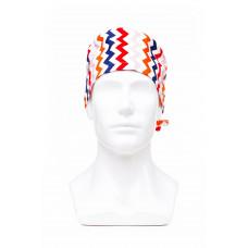 Медицинская шапочка с рисунком для коротких волос Zigzag