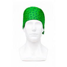 Медицинская шапочка с рисунком для коротких волос Skull
