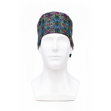 Медицинская шапочка с рисунком для коротких волос Psychedelic