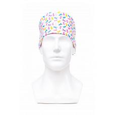 Медицинская шапочка с рисунком для коротких волос World aids