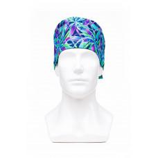 Медицинская шапочка с рисунком для коротких волос Kaleidoscope 2020