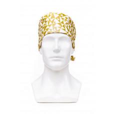Медицинская шапочка с рисунком для коротких волос Golden triangles