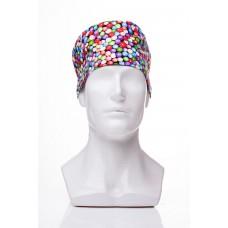 Медицинская шапочка с рисунком для коротких волос Lines 2000