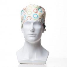 Медицинская шапочка с рисунком для коротких волос Cells