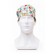 Медицинская шапочка с рисунком для коротких волос Triangles